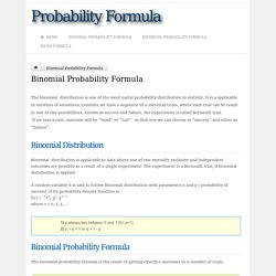 Binomial Probability Formula - Definition & Examples