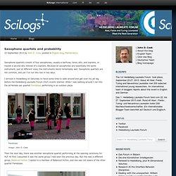 Saxophone quartets and probability › Heidelberg Laureate Forum
