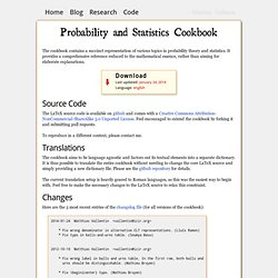Probability and Statistics Cookbook