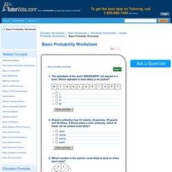 Basic Probability Worksheet