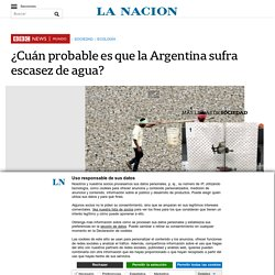 ¿Cuán probable es que la Argentina sufra escasez de agua?