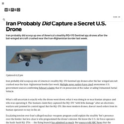 Iran Probably Did Capture a Secret U.S. Drone | Danger Room