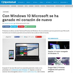 Probamos Windows 10 Technical Preview