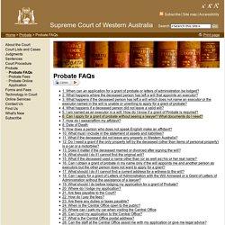 Probate FAQs