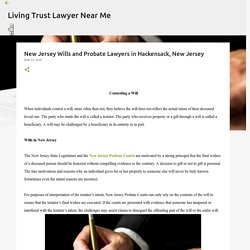 New Jersey Wills and Probate Lawyers in Hackensack, New Jersey