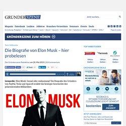 Die Biografie von Elon Musk – hier probelesen