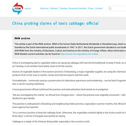 MNN 08/05/12 China probing claims of toxic cabbage