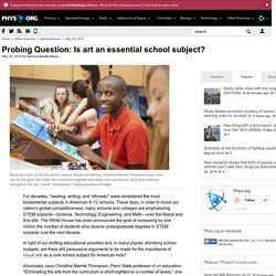 Probing Question: Is art an essential school subject?
