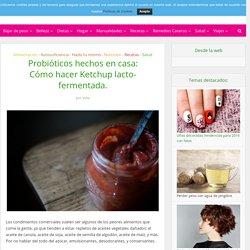 Probióticos hechos en casa: Cómo hacer Ketchup lacto-fermentada.