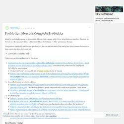 Probiotics: Mercola Complete Probiotics