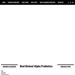 Alpha Probiotics Review & Deal