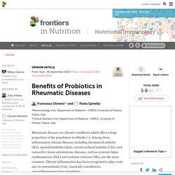 Benefits of Probiotics in Rheumatic Diseases