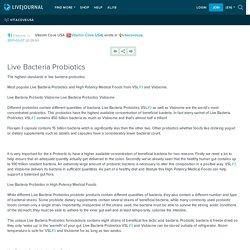Live Bacteria Probiotics