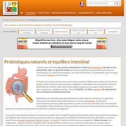 Probiotiques naturels et équilibre intestinal