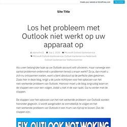 Los het probleem met Outlook niet werkt op uw apparaat op