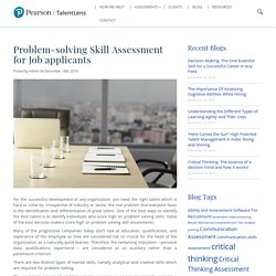 Solving Skill Assessment for Job Applicants