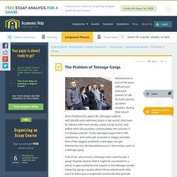 Problem of Teen Gangs: Essay Sample