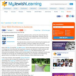 Free Will Problem in Judaism