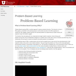 Problem-Based Learning: CTLE Resources