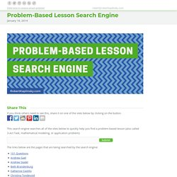 Problem-Based Lesson Search Engine - Robert Kaplinsky