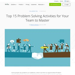 Top 15 Problem Solving Activities for Your Team to Master