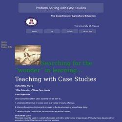 Problem Solving & Case Studies