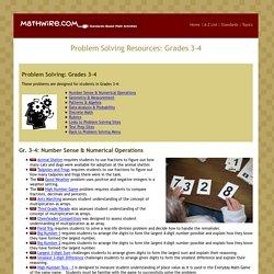 Problem Solving: Gr. 3-4
