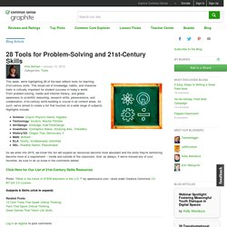 28 Tools for Problem-Solving and 21st-Century Skills