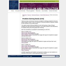 Problem Solving Decks (K-8) - Mathematics