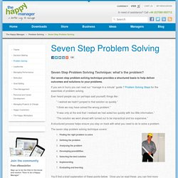 Seven Step Problem Solving Technique