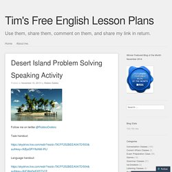the desert island problem Exercise 1: the gottman island survival game  find yourselves on a tropical desert island the two of you are the only  problem areas and agree to work together .