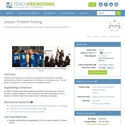 Problem Solving - Lesson