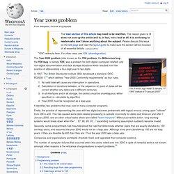 Year 2000 problem