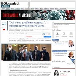 """""""Qui c'è un problema cronico..."""". I ministri in rivolta contro Conte - IlGiornale.it"""