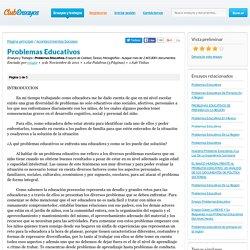 Problemas Educativos - Ensayos y Trabajos