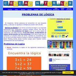 PROBLEMAS DE LOGICA CON SOLUCIONES