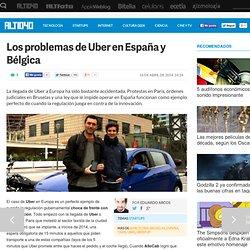 Los problemas de Uber en España y Bélgica