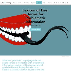 Lexicon of Lies: Terms for Problematic Information
