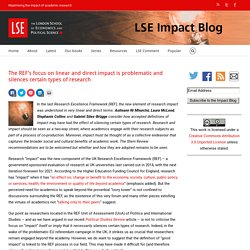 *****Link to value of monitoring: The REF's focus on linear and direct impact is problematic and silences certain types of research