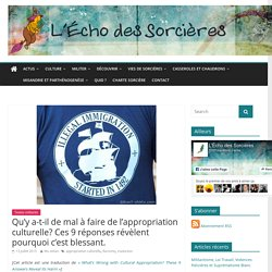 La Problématique De L'appropriation Culturelle