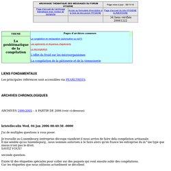 Archive des messages du forum HYGIENE concernant la problématique de la congélation
