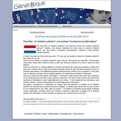 """Pays-Bas : la """"sédation palliative"""", une pratique """"moralement problématique"""""""