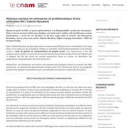 Réseaux sociaux en entreprise et problématique d'une utilisation RH / Gabriel Boudard - Blog du Master Cnam Transition Digitale
