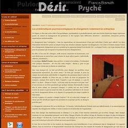 Problématiques et conduite du changement en entreprise - Paris - Cergy - Val-d-Oise - Cnam