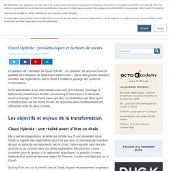 Cloud Hybride : problématiques et facteurs de succès