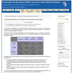 Problématiques et stratégies sur le document numérique - Bloc-no
