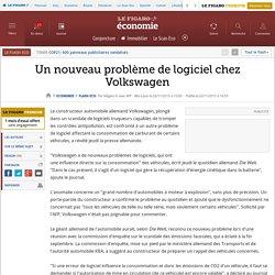 Un nouveau problème de logiciel chez Volkswagen