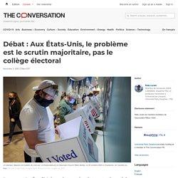 Débat : Aux États-Unis, le problème est le scrutin majoritaire, pas le collège électoral