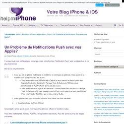 Un Problème de Notifications Push avec vos Applis?