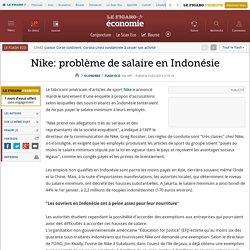 Nike: problème de salaire en Indonésie